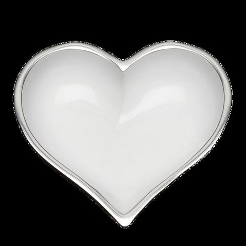 Shiny White Heart with Heart Spoon