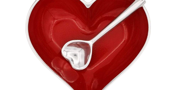 Red Heart with Heart Spoon