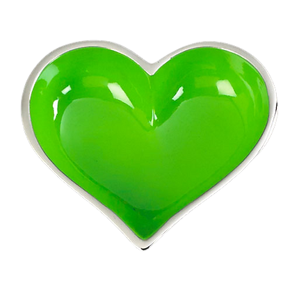 Green Heart with Heart Spoon