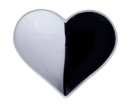 Black & White Cookie Heart with Heart Spoon