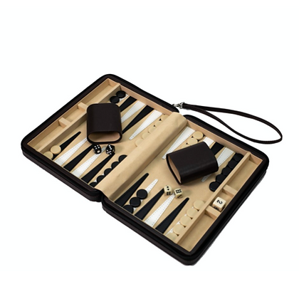 Travel Backgammon Set - Brown