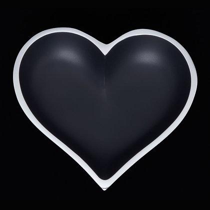 Matte Black Heart with Heart Spoon