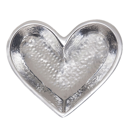 Tiny Heart - Hammered Silver