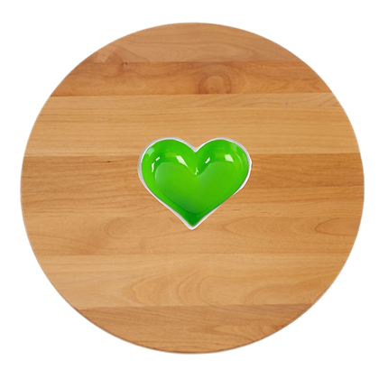 Personalized Lazy Susan with Heart and Spoon