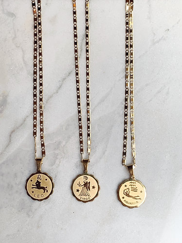 PACKAGE STARSIGN NECKLACES 12 PIECES