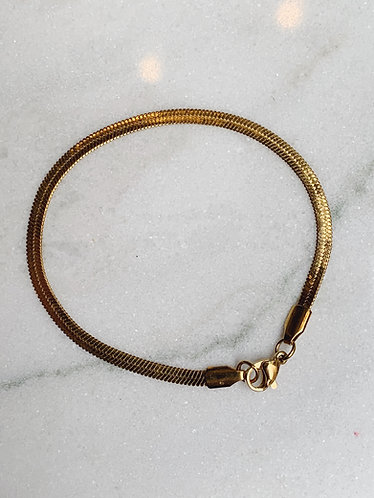 FLAT CHAIN BRACELET - GOLD