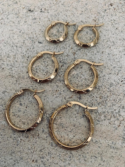 ROSA HOOPS - 3 SIZES