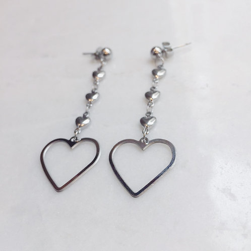 LOVE OVERDOSE EARRINGS - SILVER