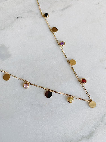 COIN & SPARKLE CHOKER - GOLD & SILVER OPTION