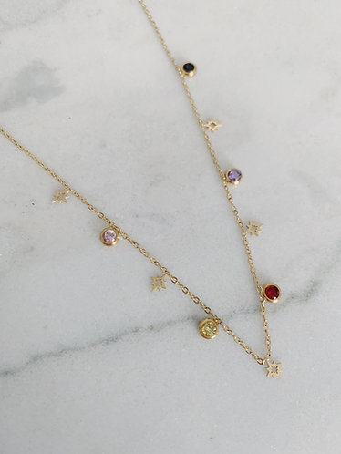 STAR & SPARKLE CHOKER - GOLD & SILVER OPTION