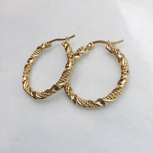 LET'S TWIST AGAIN HOOP EARRINGS