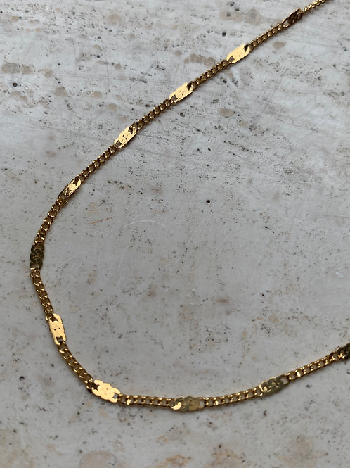 FLAT DOT NECKLACE - GOLD/SILVER