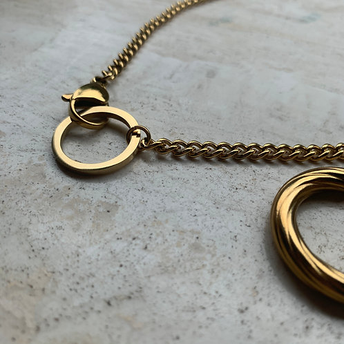 GOLD TWO PIECE NECKLACE