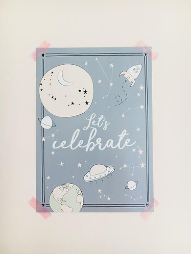 LET'S CELEBRATE POSTER A4