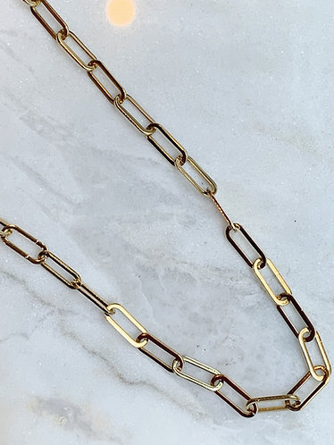 BIG CHAIN NECKLACE - GOLD & SILVER