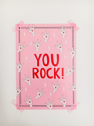 YOU ROCK! POSTER A4