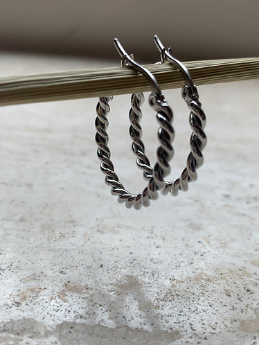 TWISTY HOOPS - GOLD/SILVER