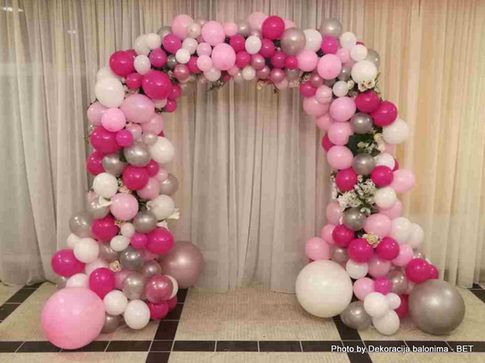 asimetricni baloni - dekoracija - organs