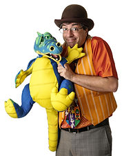 West Chester PA Ventriloquist The Amazing Spaghetti (Dan Freed) with Devo the smoke breathing Dragon.
