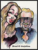 Sample caricature portrait drawing by West Chester PA artist Dan Freed.