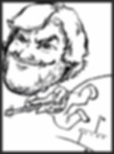 """Sample Party Caricature by Chester County PA artist Dan Freed. Another example of an action pose. This one is of musician/actor Jack Black. The drawings are usually done with black marker on 11 by 17"""" paper."""