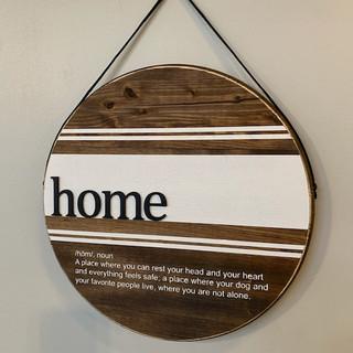 3D Round Home Noun