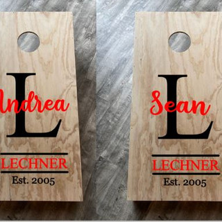 Cornhole First Name Monogram