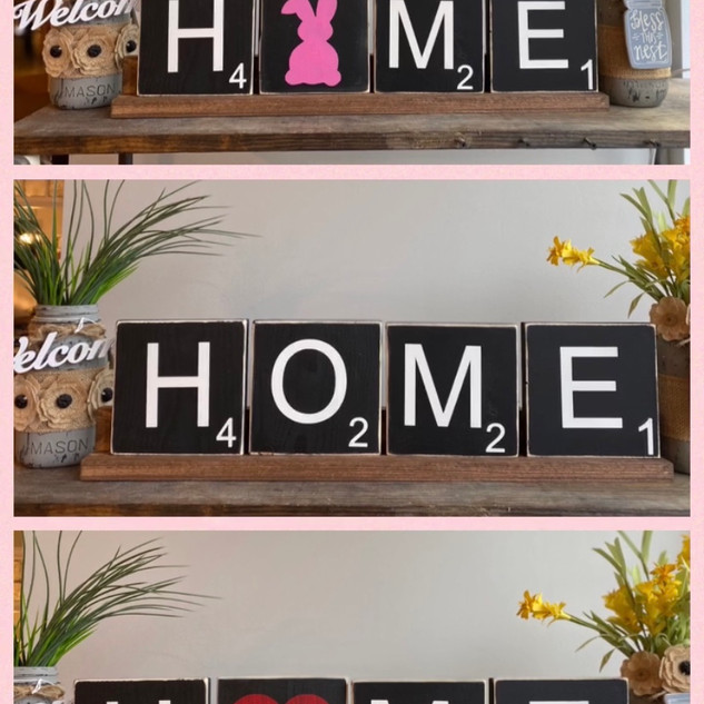 Home Scrabble Tiles Stand  with 5 blocks