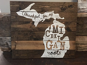 Michigan Man Cave Signs : Wood art sign gallery