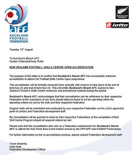 Skill Centre Accreditation Confirmation.