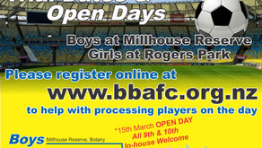 2021 Trial Dates and Open Days