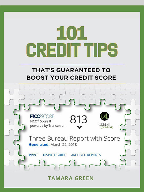 e-Book 101 Ways Guaranteed to Boost Your Credit