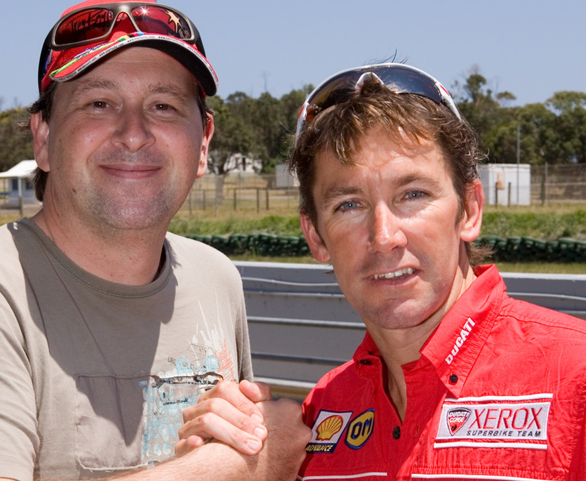 Aaran Creece and Troy Bayliss.jpg