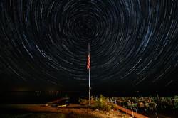 Star Trails Leech Lake