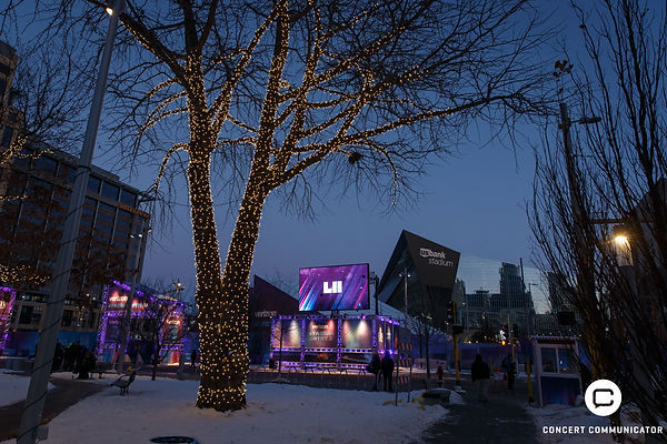 Images from around US Bank Stadium during Super Bowl LII