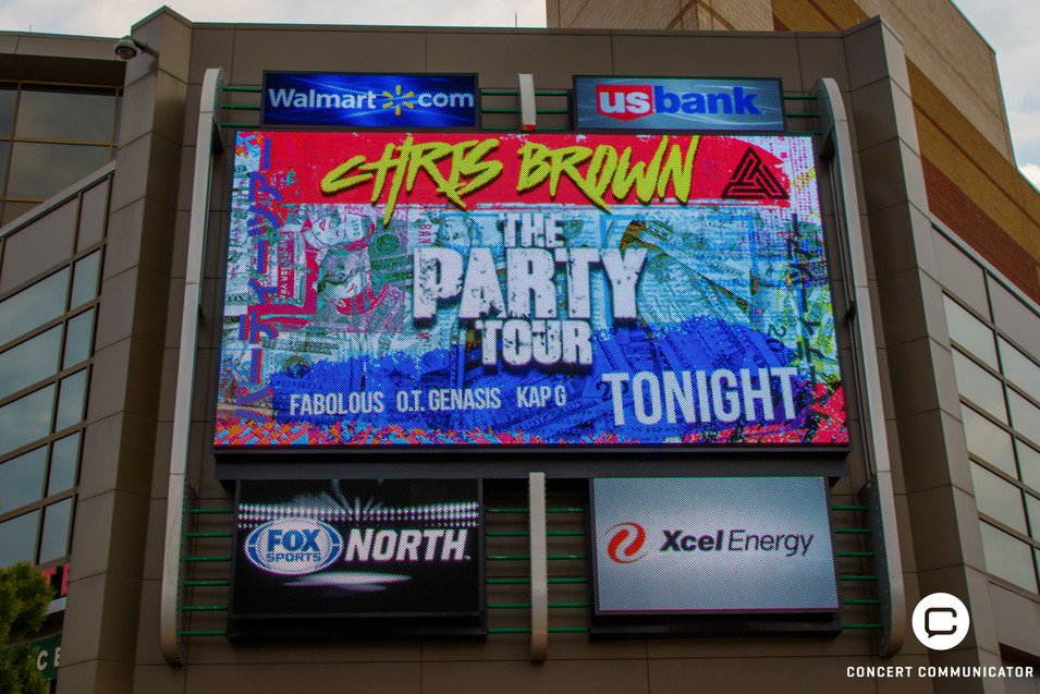 Chris Brown - The Party Tour at Xcel Energy Center in St. Paul, MN on April 9, 2017