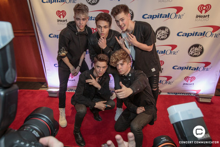 WHY DON'T WE attends 101.3 KDWB's Jingle Ball 2017 Presented by Capital One at Xcel Energy Center on December 4, 2017 in St. Paul, MN.