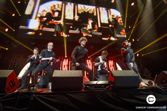WHY DON'T WE performs onstage during 101.3 KDWB's Jingle Ball 2017 Presented by Capital One at Xcel Energy Center on December 4, 2017 in St. Paul, MN.