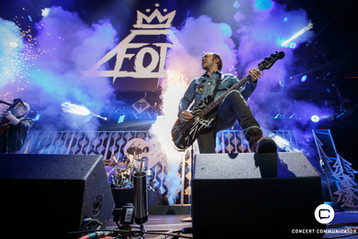 FALL OUT BOY performs onstage during 101.3 KDWB's Jingle Ball 2017 Presented by Capital One at Xcel Energy Center on December 4, 2017 in St. Paul, MN.