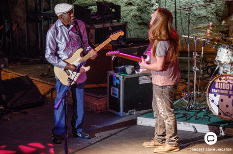 Dylan Salfer performs with Buddy Guy