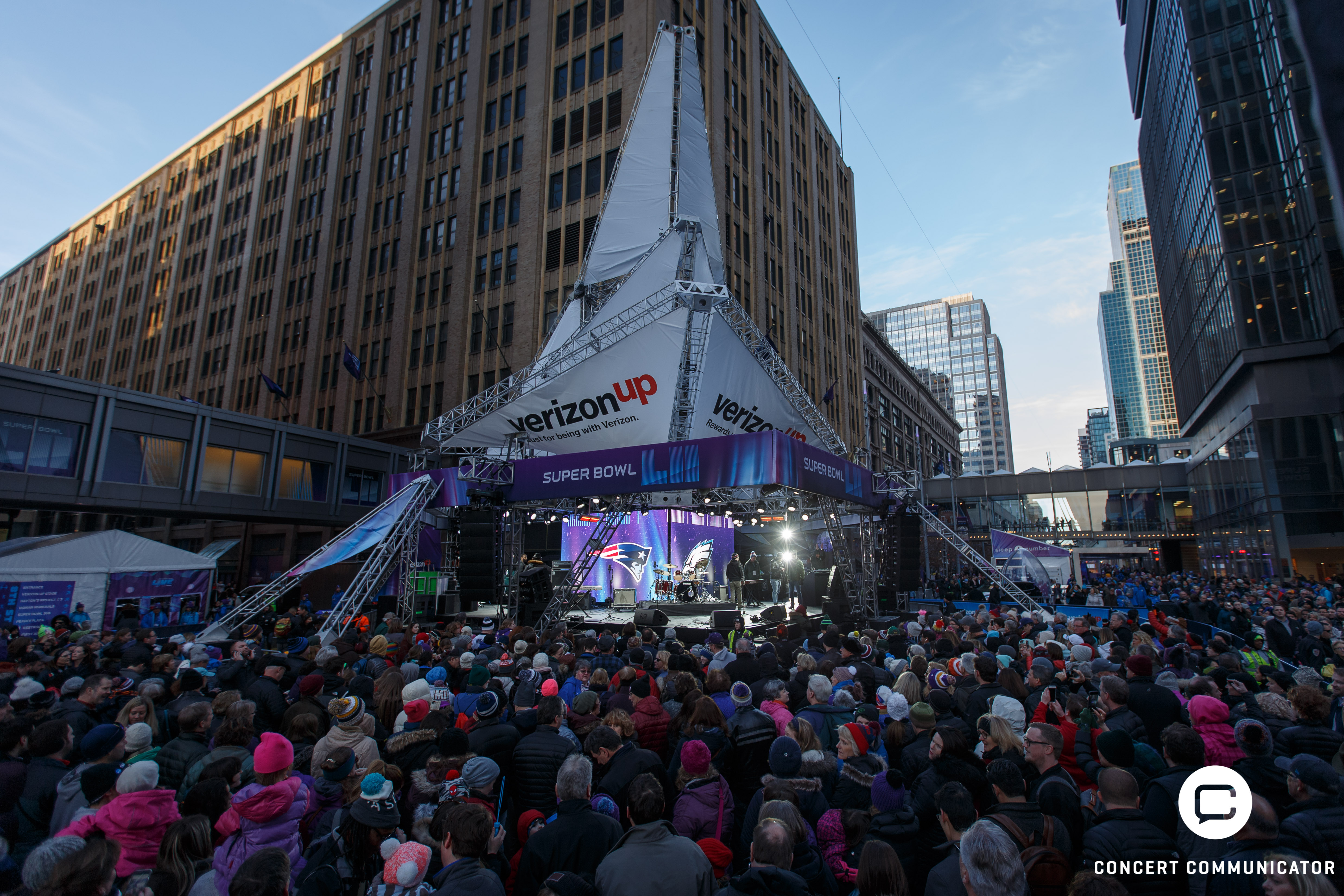 Verizon Up Stage @ Super Bowl Live