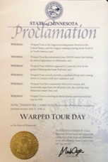 Warped Tour Day Proclaimed in Minnesota