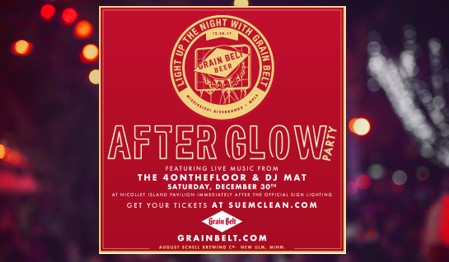 Grain Belt Sign Lighting Afterglow Party with 4onthefloor