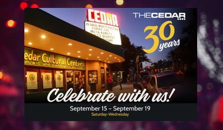 The Cedar to Celebrate 30 Years
