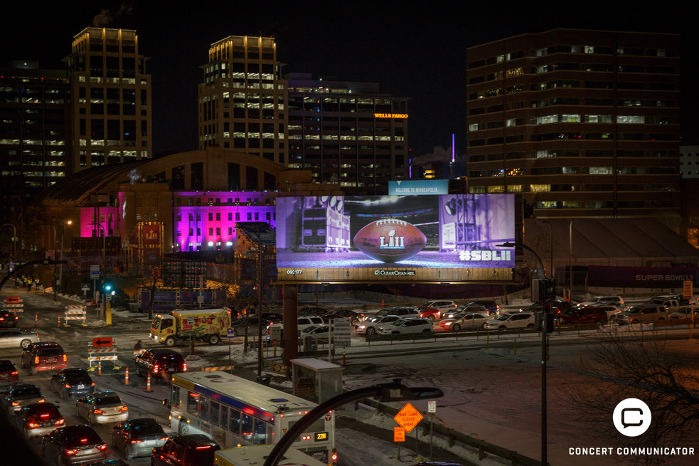 Minneapolis Armory lit up for Club Nomadic