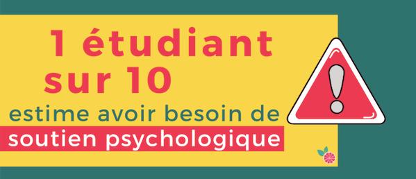 1 etudiant sur 10 besoin soutien pscyhologique