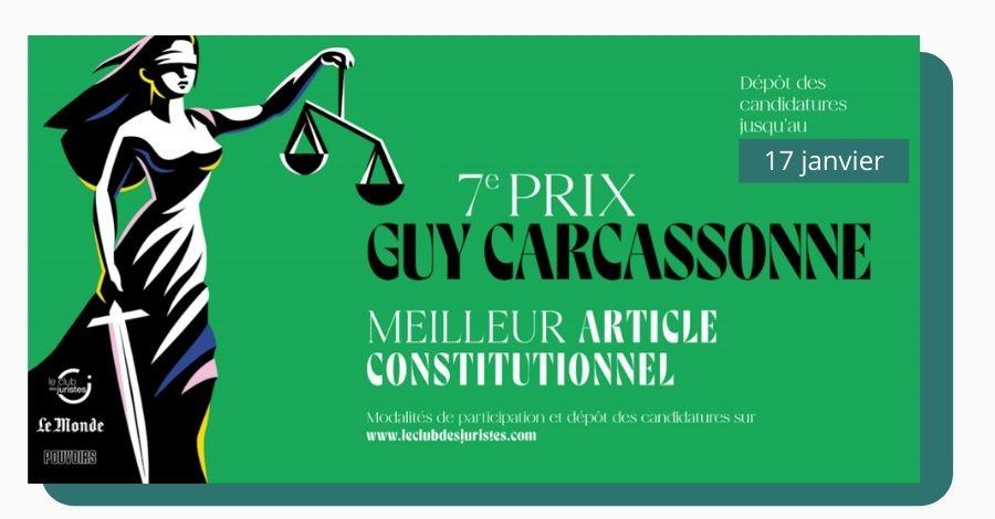 [Prix Guy Carcassonne] meilleur article remportera 1 500 €