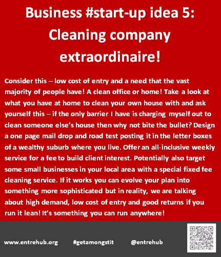 Business #start-up idea 5: Cleaning