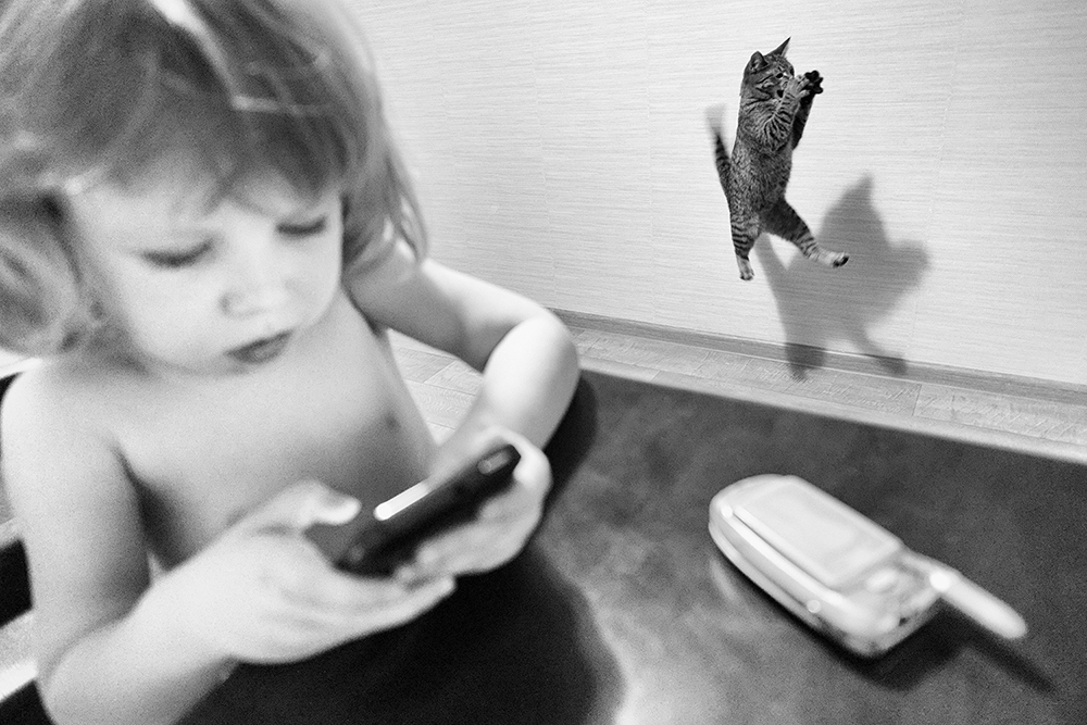 Baby and her cat
