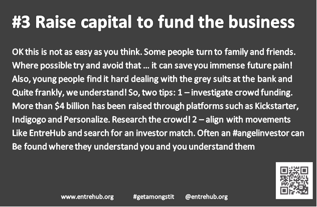 #3 Raise capital to fund the busines